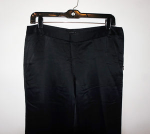 Theory black silk pants