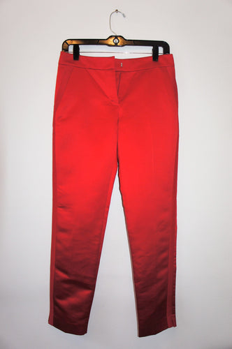 Ramy Brook red silk pants