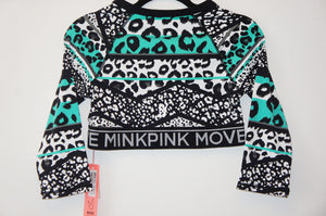 MinkPink fierce 3/4 sleeve top
