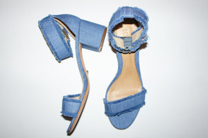 "Schutz ""Taisa"" denim low heels sandals"