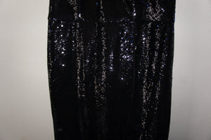 Halston Heritage Satin-trimmed sequined wrap dress