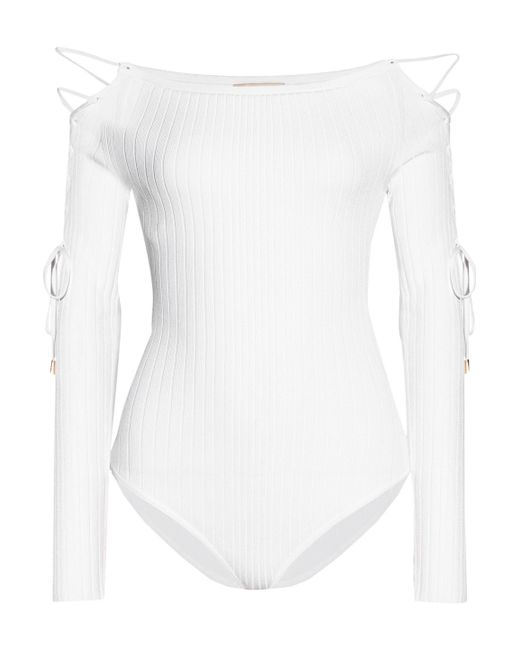 Cushnie et Ochs Lace-up bodysuit