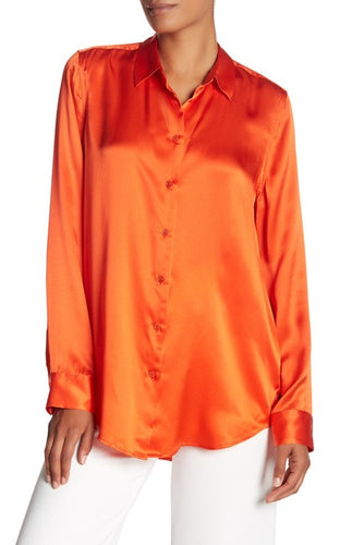 Equipment Essential Front Button Silk Blouse
