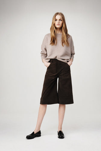Frame denim suede high-rise culottes