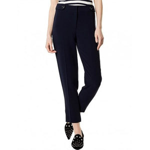 Karen Millen DARK BLUE CAPRI TROUSERS