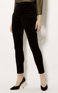 Karen Millen VELVET HIGH-WAISTED TROUSERS
