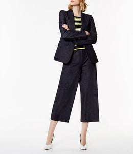 Karen Millen Denim Wide-Leg Trouser