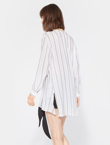Halston Heritage OVERSIZED STRIPED TOP
