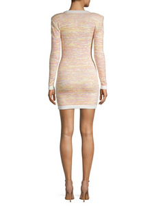 Ronny Kobo Multicolored Mini Sheath Dress