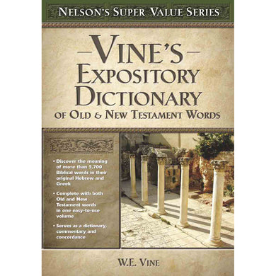Vines Concise Expository Dictionary Old / NT Words (Super Value Series)(Hardcover)
