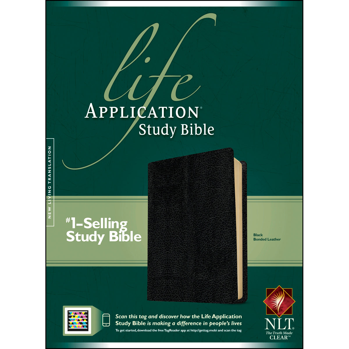 NLT Life Application Study Bible Black (Bonded Leather)