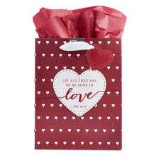 Load image into Gallery viewer, 1 Corinthians 16:14 Let All That You Do Be Done In Love (Medium Gift Bag)