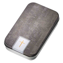 Load image into Gallery viewer, John 3:16 Metal Cross (Keyring In Tin)