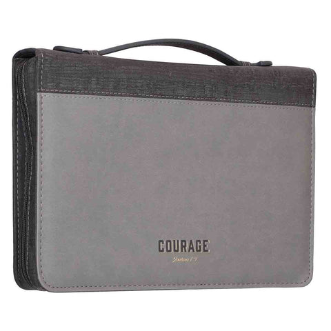 Load image into Gallery viewer, Courage (LuxLeather Bible Bag)