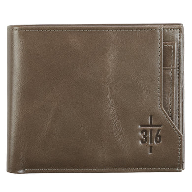 John 3:16 Cross (Genuine Leather Wallet)