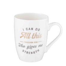 Load image into Gallery viewer, Philippians 4:13 I Can Do All Things (Ceramic Mug)