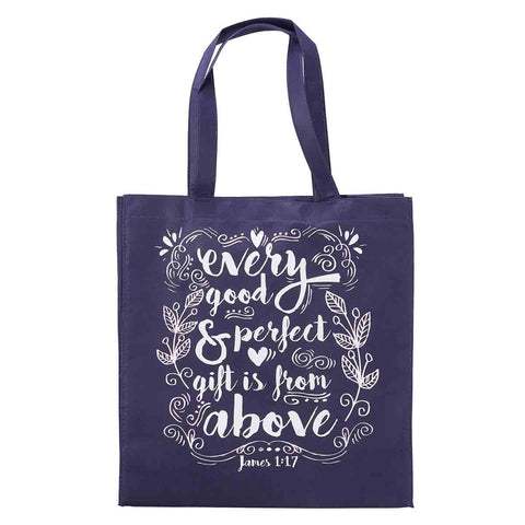 James 1:17 Every Good & Perfect Gift Is From Above (Non-Woven Polypropylene Tote Bag)