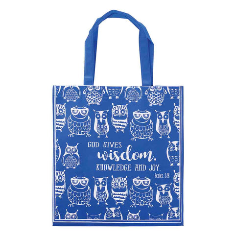 Load image into Gallery viewer, God Gives Wisdom, Knowledge and Joy (Totebag)