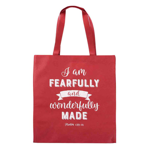 I Am Fearfully And Wonderfully Made (Non-Woven Polypropylene Tote Bag)