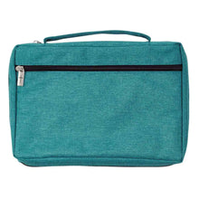 Load image into Gallery viewer, Strength And Dignity Teal (Polyester Bible Bag)