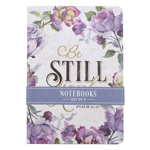 Psalm 46:10 Be Still And Know (Set Of 3)(Medium Notebook)
