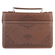 Load image into Gallery viewer, A Man's Heart Brown (LuxLeather Bible Bag)