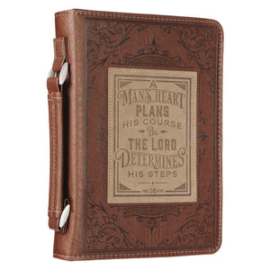 A Man's Heart Brown (LuxLeather Bible Bag)