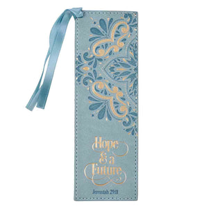 Jeremiah 29:11 Hope & A Future Powder Blue (LuxLeather Pagemarker)