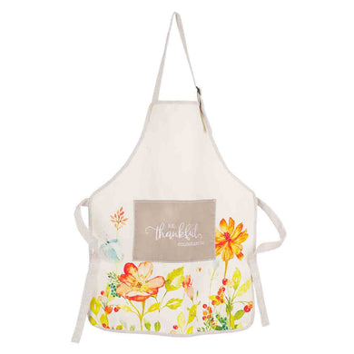 Colossians 3:15 Be Thankful Floral (Cotton Apron)