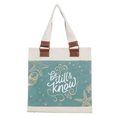 Psalm 46:10 Be Still & Know (Cotton Canvas Tote Bag)