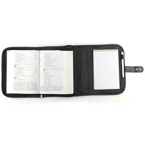 Organizer With Fish Badge Navy Blue (Polyester Bible Bag)