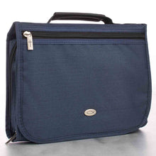 Load image into Gallery viewer, Organizer With Fish Badge Navy Blue (Polyester Bible Bag)