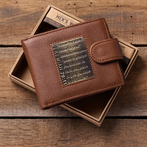I Know The Plans I Have For You Brown (Genuine Leather Wallet)