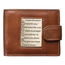 Load image into Gallery viewer, I Know The Plans I Have For You Brown (Genuine Leather Wallet)