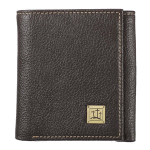 Three Crosses Brown (Genuine Leather Wallet)