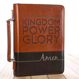 Our Father In Heaven Brown (LuxLeather Bible Bag)
