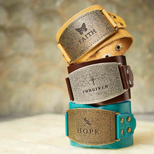 Load image into Gallery viewer, Forgiven Brown (Genuine Leather Wriststrap)