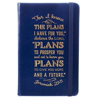 Jeremiah 29:11 I Know The Plans (Faux Leather Notebook)