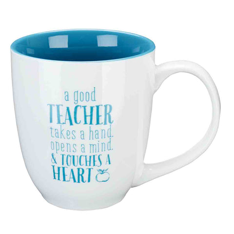 A Good Teacher Takes A Hand (Ceramic Mug)
