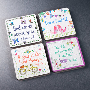 God Is Faithful (Set Of 4)(Magnet Set)