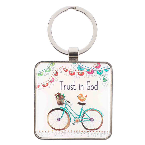 Trust In God (Metal Keyring)