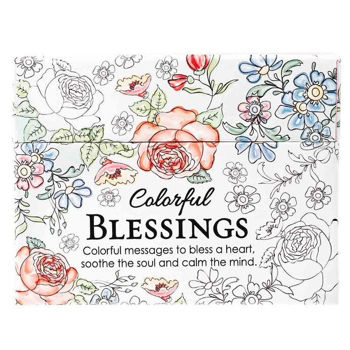 Colorful Blessings (Coloring Boxed Cards)