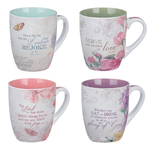 Load image into Gallery viewer, Floral Inspirations (Set Of 4)((Mug Boxed Set)