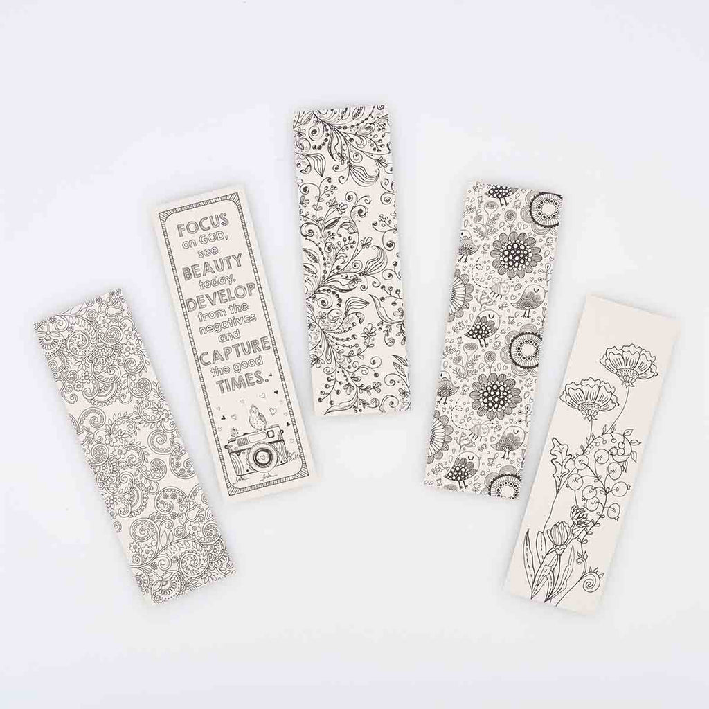 To Color And Share Blue (Set Of 5)(Coloring Bookmarks)