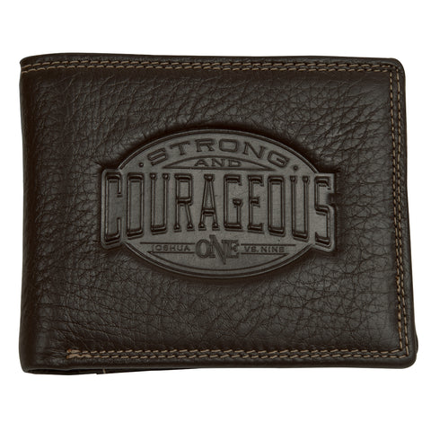 Strong And Courageous (Genuine Leather Wallet)