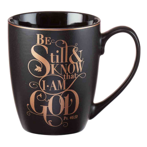 Psalm 46:10 Be Still And Know That I Am God (Stoneware Mug)
