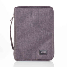 Load image into Gallery viewer, With Fish Badge Grey (Polyester Bible Bag)