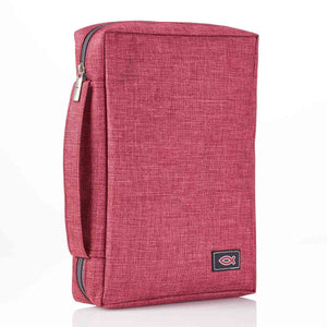 With Fish Badge Burgundy (Polyester Bible Bag)