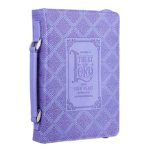 Load image into Gallery viewer, Trust In The Lord (Faux Leather Bible Bag)