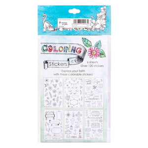 Coloring Stickers For Bible Journaling (Sticker Sheets)